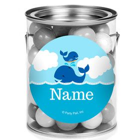 Blue Whale Personalized Mini Paint Cans (12 Count)
