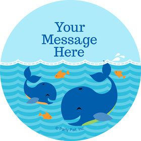 Blue Whale Personalized Stickers (Sheet of 12)