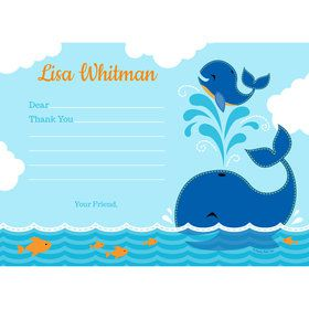 Blue Whale Personalized Thank You (Each)
