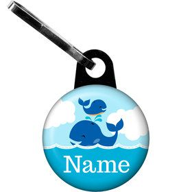 Blue Whale Personalized Zipper Pull (Each)