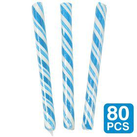 "Blueberry Light Blue 5"" Candy Sticks (80 Pack)"