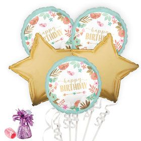 Boho Birthday Girl Balloon Bouquet Kit