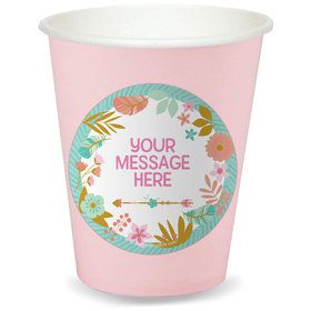 Boho Birthday Girl Personalized Cups (8)