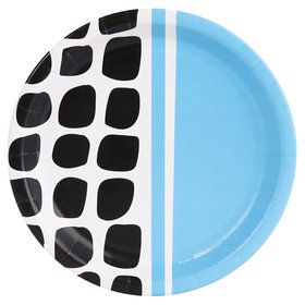 Bold Geometric Blue Dinner Plate (8)
