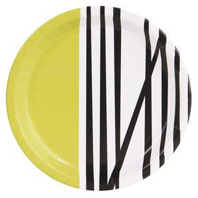 Bold Geometric Green Dinner Plate (8)