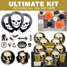 Boneyard Halloween Ultimate Tableware Kit (Serves 60)