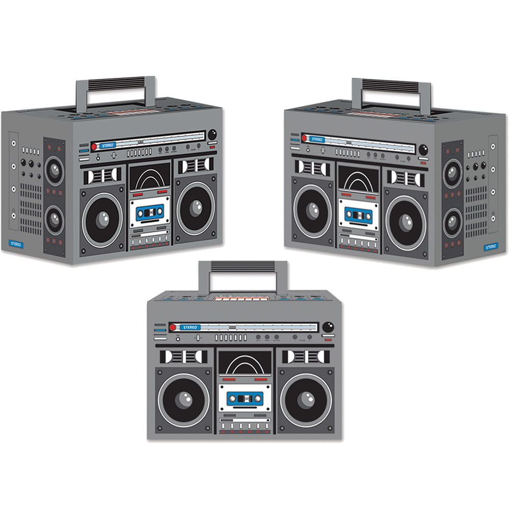 Boom Box Favor Boxes (3 Pack) - Party Supplies