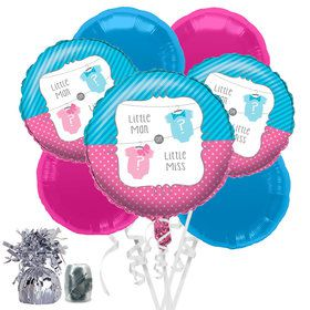 Bow or Bowtie Baby Shower Balloon Bouquet Kit