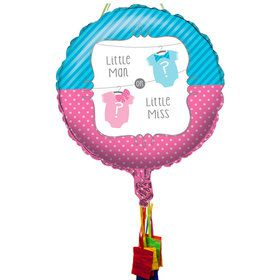Bow or Bowtie Baby Shower Pull String Pinata
