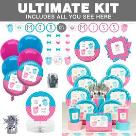 Bow Or Bowtie Gender Reveal Ultimate Tableware Kit (Serves 8)