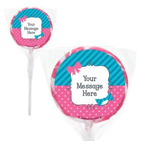 "Bow or Bowtie? Personalized 2"" Lollipops (20 Pack)"