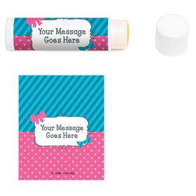 Bow or Bowtie? Personalized Lip Balm (12 Pack)