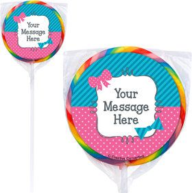 Bow or Bowtie Gender Reveal Personalized Lollipops (12 Pack)