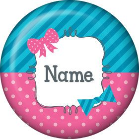 Bow or Bowtie? Personalized Mini Magnet (Each)