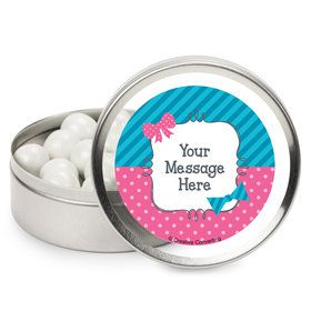 Bow or Bowtie? Personalized Mint Tins (12 Pack)