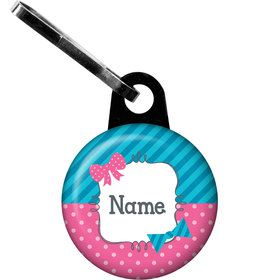Bow or Bowtie Gender Reveal Personalized Zipper Pull (Each)