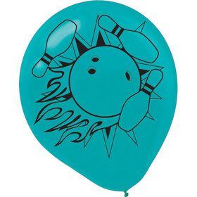 "Bowling 12"" Latex Balloons (12 Count)"