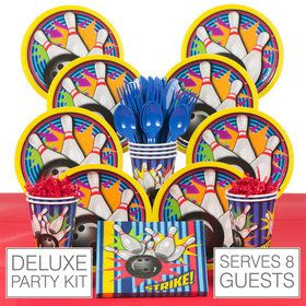 Bowling Party Deluxe Tableware Kit Serves 8
