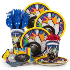 Bowling Party Standard Tableware Kit Serves 8