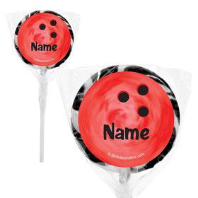 "Bowling Personalized 2"" Lollipops (20 Pack)"