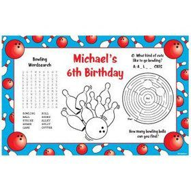 Bowling Personalized Activity Mats (8-pack)