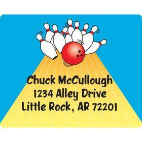 Bowling Personalized Address Labels (sheet of 15)