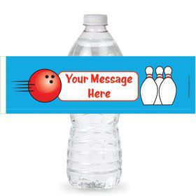 Bowling Personalized Bottle Labels (Sheet of 4)
