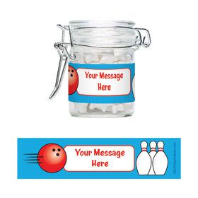 Bowling Personalized Glass Apothecary Jars (12 Count)