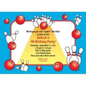 Bowling Personalized Invitation (each)