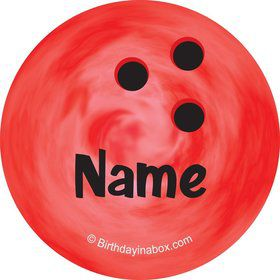 Bowling Personalized Mini Stickers (Sheet of 24)