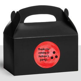 Bowling Personalized Treat Favor Boxes (12 Count)