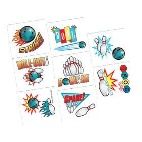 Bowling Tattoos (16 Count)