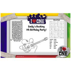 Boy Band Personalized Activity Mat (8 Pack)