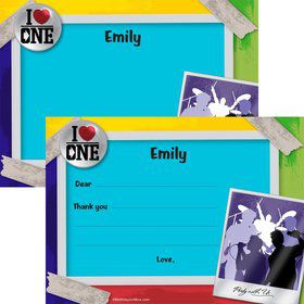 Boy Band Personalized Thank You Note (Each)