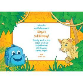 Boy Explorer Personalized Invitation (each)