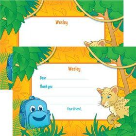Boy Explorer Personalized Thank You Note (each)