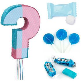 Boy Gender Reveal Pull Pinata Kit