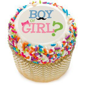 "Boy or Girl 2"" Edible Cupcake Topper (12 Images)"