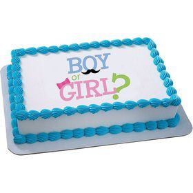Boy or Girl Quarter Sheet Edible Cake Topper (Each)
