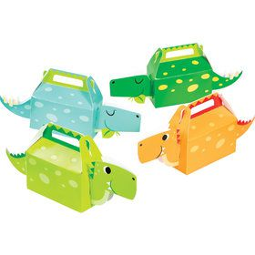 Boys Dino-Roar 3D Treat Boxes, Assorted Colors