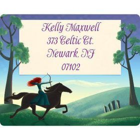 Brave Princess Personalized Address Labels (sheet of 15)