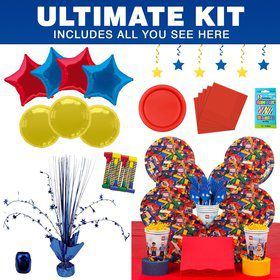 Bric Tek Birthday Party Ultimate Tableware Kit Serves 8