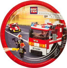 "Bric Tek Firefighter 9"" Luncheon Plates (8 Pack)"
