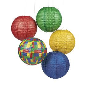 Brick Party Paper Lanterns (6)
