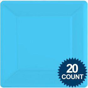 "Bright Blue 10"" Square Paper Plates, 20 ct."