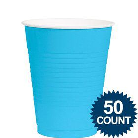 Bright Blue 12oz. Plastic Cup (50 Pack)
