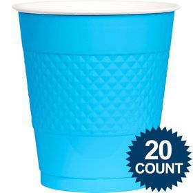 Bright Blue 16oz. Plastic Cups (20 Pack)