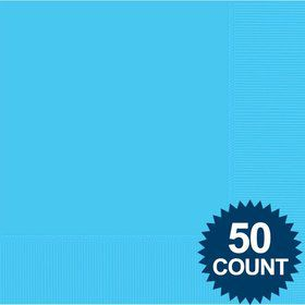 Bright Blue 2-Ply Luncheon Napkins, 50 ct.