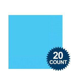Bright Blue 3-Ply Beverage Napkins, 20 ct.