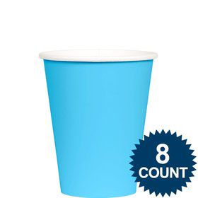 Bright Blue 9 oz. Paper Cup, 8ct.